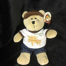Starbucks Bearista Bear Los Angeles Destination Series 2009 NWT Plush Barista 9""