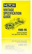 Motor Vintage Specification Guide 1980-95 + Coupon