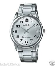 MTP-V001D-7B White Casio Men's Watch Stainless Steel Band Water Resistant New