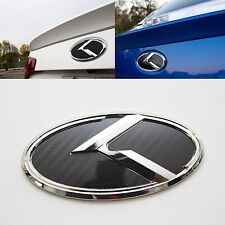3D K Logo Rear Trunk Carbon Black Emblem  For KIA Forte Koup 2009 2013