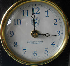 University of Oxford Vintage Wedge Shape Desk Clock Great Time Keeper England