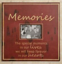 Large rustic wood MEMORIES wall photo frame/ SPECIAL MOMENTS/holds 4x6 photo