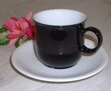 Seltmann Weiden COMPACT schwarz weiß ~ Espressotasse mit Unterteller (1 von 4)