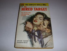 THE HIRED TARGET/ ONE DEADLY DAWN, Ace Double Novel #D-241, 1957, Vintage PB!