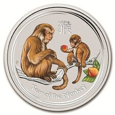 Lunar II Año del Mono Year of the Mono 1 onza coloreado Perth Moneda 1 AUD