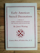 Early American Stencil Decoration, Waring 1968, Folk Arts & crafts furniture