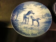 Kaiser Mother's Day Collector's Plate 1971 Horse Mare & Foal