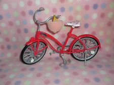 MATTEL BARBIE DOLL PINK BICYCLE w/ HELMET SET WHEELS MOVE! GIRLS 3+ MATTEL CUTE!