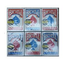 New BICYCLE 6 Decks Poker Red/Blue Playing Cards Standard or Jumbo Face