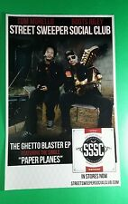 STREET SWEEPER SOCIAL CLUB TOM MORELLO BOOTS RILEY SSSC PROMO 11x17 MUSIC POSTER