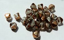 6MM COPPER COATED CRYSTAL CZECH GLASS BICONE BEADS - PACK OF 60 - G034