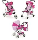 SNUGGLES BABY DOLL FOLDING PRAM BUGGY PUSH CHAIR STROLLER COLLAPSIBLE 3 4 WHEELS