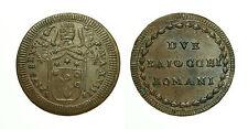 pcc1583_17) Stato Pontificio Pio VI (1775-1799) - Due Baiocchi Romani An XXIII