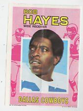 1971 TOPPS INSERT POSTER BOB HAYES COWBOYS 49ERS OLYMPIC GOLD MEDAL # 11 GLOSSY