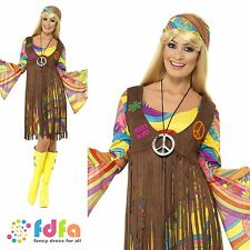 1960s GROOVY LADY FRINGED WAISTCOAT - size 20-22 xxl - womens fancy dress