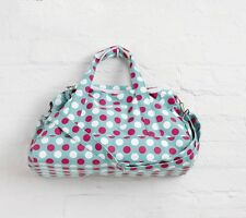 Green Spotty Canvas Sports Swimming Gym Bag By Katz Dancewear PP8G Christmas
