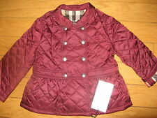 NEW Burberry Infant Baby Girls Diamond Quilted Jacket Parka Size 12 m / 80cm