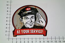 AT YOUR SERVICE Aufkleber Sticker Youngtimer Hot Rod US Car Oldschool V8 Mi320