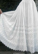 Antique Edwardian Victorian White Lace Petticoat,Broderie Anglaise Embroidery