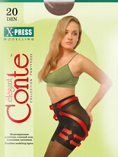 CONTE Shaping tights pantyhose extra strong no-run nude, black, tan L-XL 20den