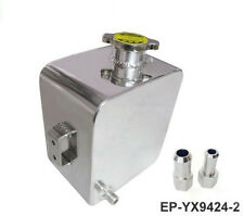 Universal 2 Litre Polished Aluminium Alloy Header Expansion Water Tank With Cap