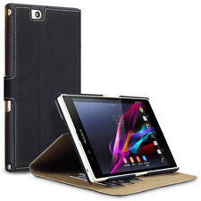 Black PU Leather Thin Wallet Case Cover Viewing Stand for Sony Xperia Z Ultra
