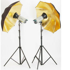 "33"" 83cm Umbrella Reflector For Studio Flash Photography Speedlite Glod Black"