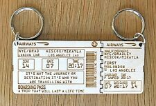 Personalised Boarding Plane Ticket Mother's Day Our Journey Keyring Gift Set