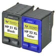 2 Patronen Tinte Drucker HP21 22 XL Fax 3180 Fax 1250 Fax 1250 XL F390 F385 F224