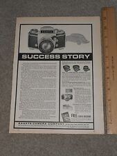 1965 Exakta Camera  Company Full page Ad  Bronxville New York Volkswagon Beetle