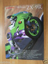 K098 KAWASAKI  BROCHURE PROSPEKT FOLDER 1999 NINJA ZX-9R  DUTCH 10 PAGES