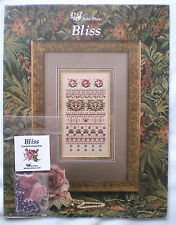 "Just Nan ""Bliss"" Counted Cross Stitch Embroidery Pattern & Embellishment Pack"