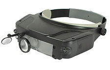 Magnifier Magnifying Glass Head Visor UP to 10.5X Headset Mirror Light LED
