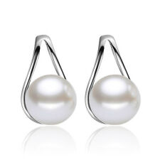 New Fashion Womens 925 Sterling Silver Ruyi Freshwater Pearl Ear Stud Earrings