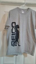 NEW GEICO GECKO MENS LARGE T SHIRT grey large