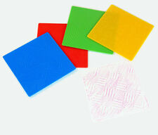 Pattern Rubbing and Embossing Plates X4