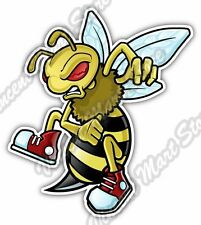 "Angry Wasp Bee Hornet Cartoon Funny Car Bumper Window Vinyl Sticker Decal 4""X5"""
