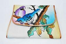 "Articious 100% Handpainted Leather ""Love Birds"" Wallet BN Authentic"