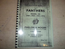 P & M Panther 100 Instruction booklet 1949-52 copy of original