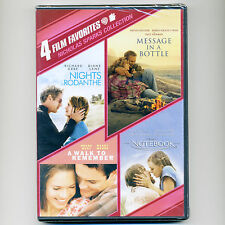 4 Sparks romance movies new DVDs Rodanthe Message Bottle Walk Remember Notebook
