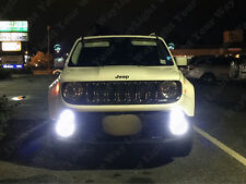 2 x Xenon White CREE Front Fog Lights LED Bulbs for 2015 2016 2017 Jeep Renegade