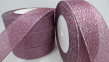 """NEW 5yards 1 """"25mm glitter ribbons Bling for DIY Wreaths decorated and Bows T15E"""