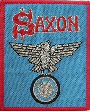 SAXON  'WHEELS OF STEEL'  sew on ORIGINAL woven  patch
