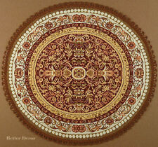 """22"""" DECORATIVE TAPESTRY TABLE RUNNER / PLACE MAT Brown Ornament EUROPEAN ACCENT"""
