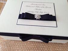 Personnalisé mariage fête mère de la mariée/marié keepsake box memory box