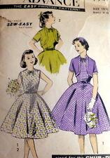 LOVELY VTG 1950s GIRLS DRESS & BOLERO ADVANCE Sewing Pattern Teen 10 1/2