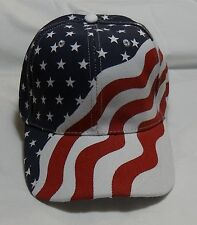 USA American Red White & Blue Flag Baseball Cap Hat Show you are Patiotic