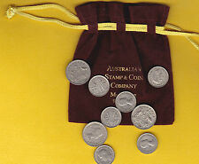 Christmas pudding traditional Silver coins in velour pouch GIFT discount for 5