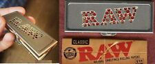 RAW Rolling 1 1/4 Paper Shred Grinder Storage Case+1.25 PACK UNBLEACHED CLASSIC
