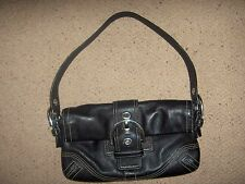 Authentic Coach Black Leather Soho Shoulder Bag Style 8A05 ~ 10x6x1